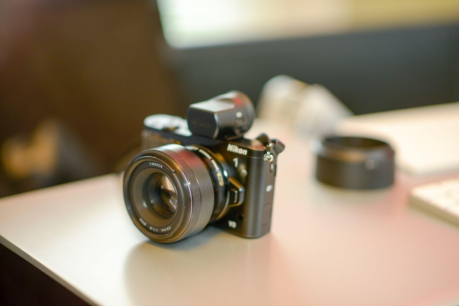 Nikon 1 Nikkor 32mm F 1 2 Lens On A V3 Dfn1000 Viewfinder Lens Nikon F 1