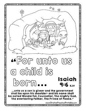 Christmas Bible Verse Printables Christian Preschool Printables Christmas Sunday School Lessons Sunday School Preschool Christmas Sunday School