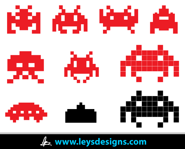 Vector Space Invader Icons Download Free Vector Icons Vector Icons Free Space Invaders Business Icons Vector