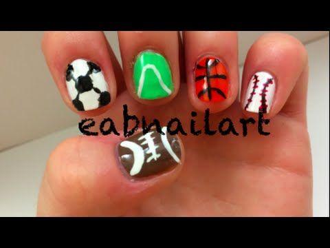Easy Sports Nail Art Httpnailtech6easy Sports Nail