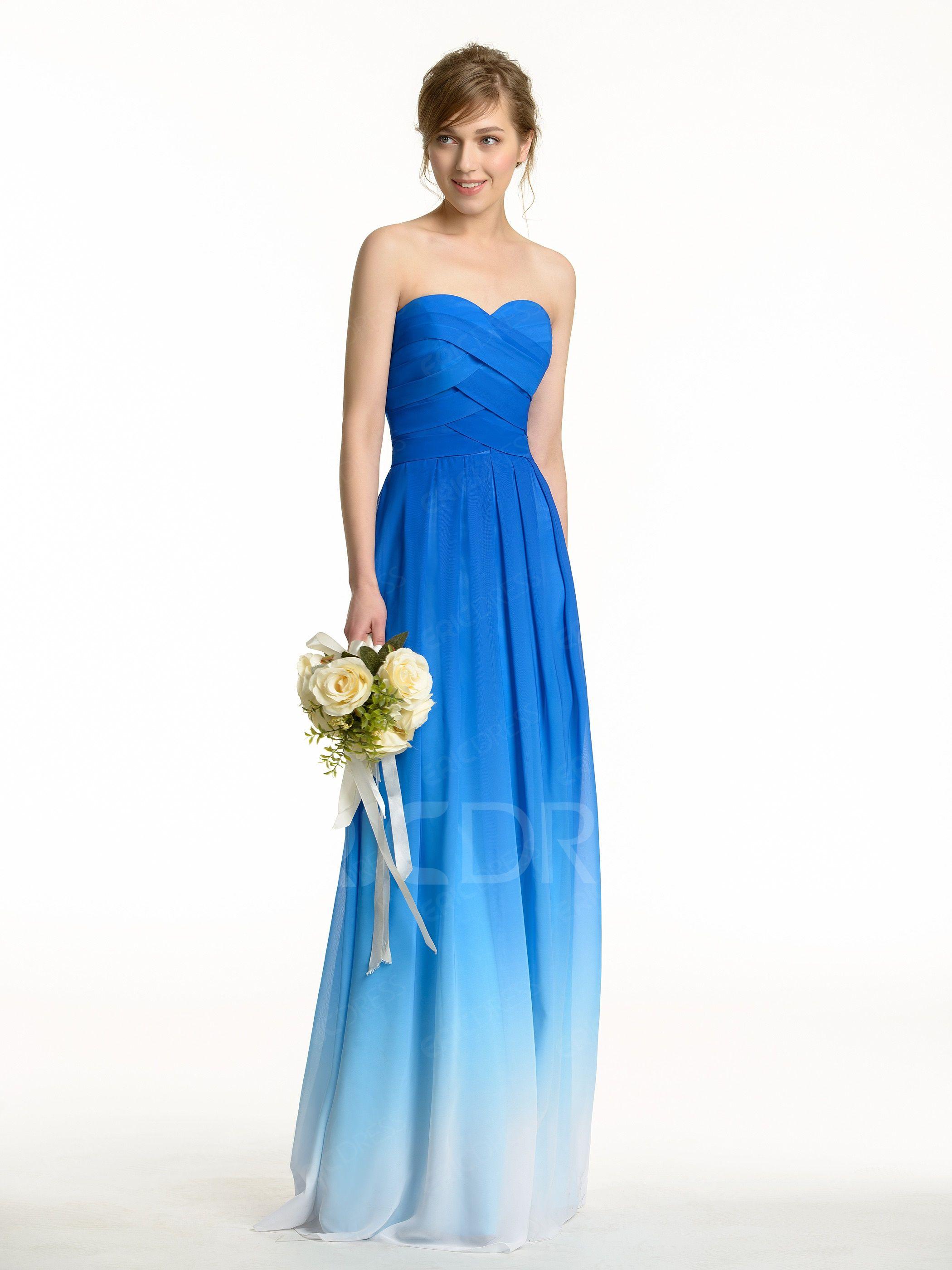 Beautiful fading color long bridesmaid dress long bridesmaid beautiful fading color long bridesmaid dress ombrellifo Images