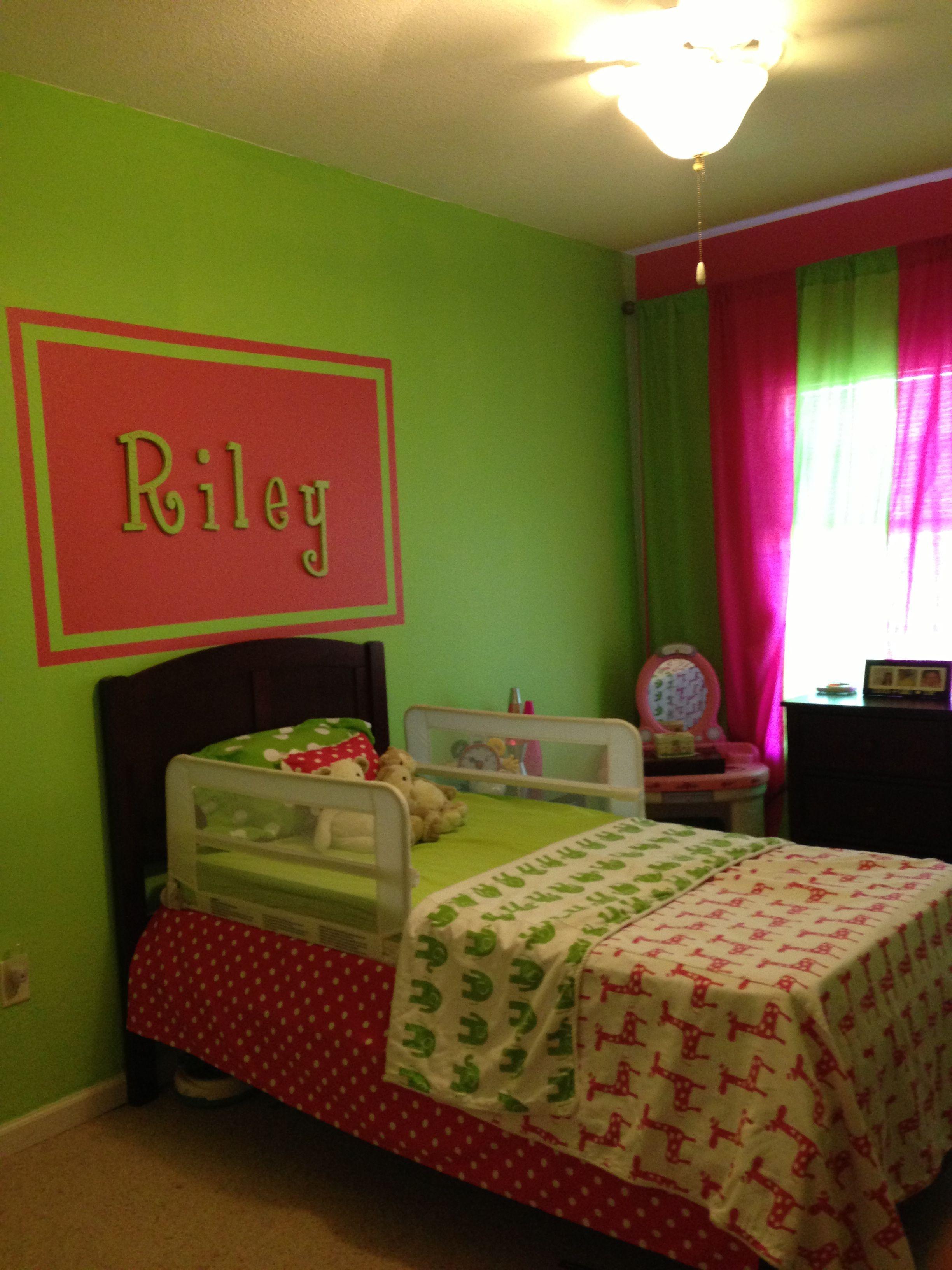 Pink & Green girls room | Kids room, Toddler bedrooms