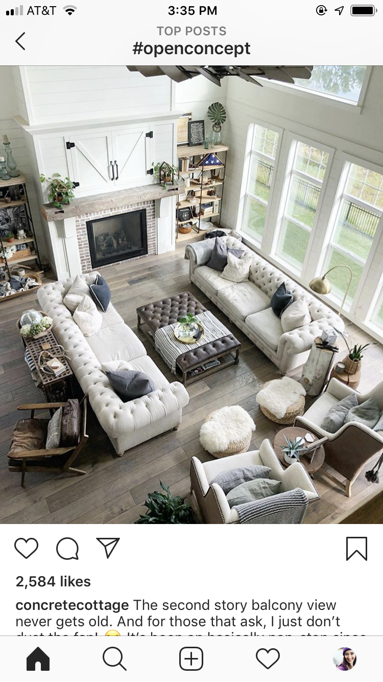 Pin By Dorothy Segedinac On For The New House Open Living Room Design Livingroom Layout Interior Design Living Room Warm