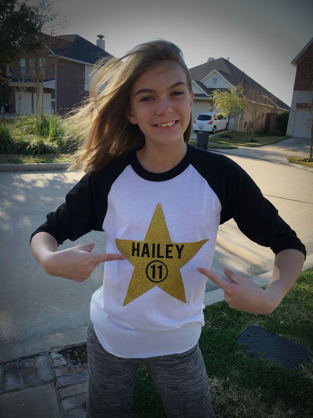 11 Year Girl Bedroom Decoration Ideas: Hollywood Star Birthday Shirt. 11 Years Old!