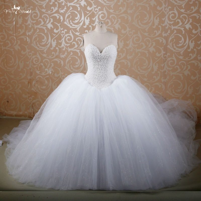 RSW607 Puffy Princess Cathedral Royal Train Buy Red Ball Gown Bridal Wedding Gowns With Diamonds