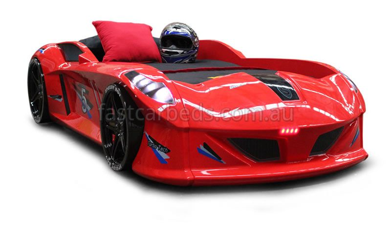 Lavish Red Thunder Car Bed Car Bed Car Fast Cars