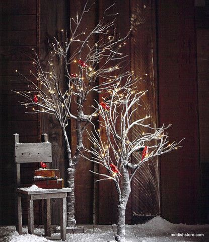 Roost Snowy Willow Trees Christmas Trees Modish