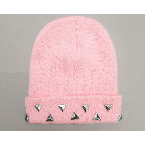 902290d03 Pastel Grunge Beanie Pastel Goth Hat Triangle Studded Pastel Beanies ...