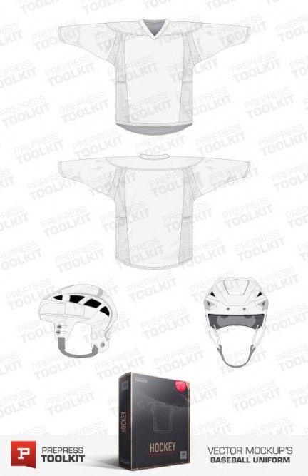 Vector mockup template ice hockey jersey uniform Vector Apparel - hockey templates free