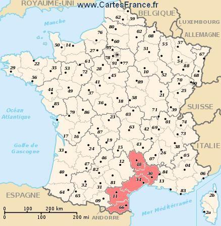 Languedoc Region France Carte De France Region Carte Des
