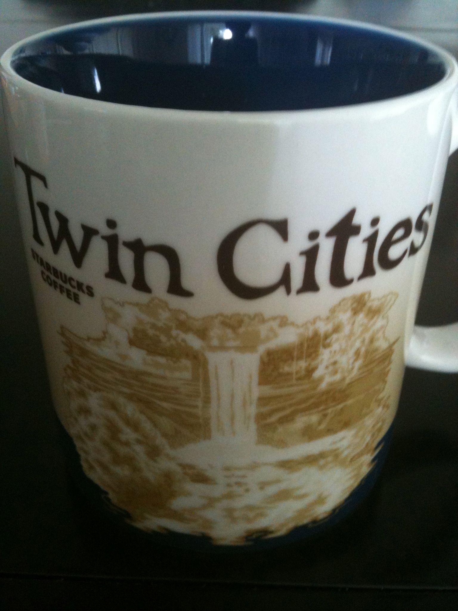 Twin Cities Minneapolis Saint Paul Minnesota Usa Starbucks City Mugs My Starbucks Mugs