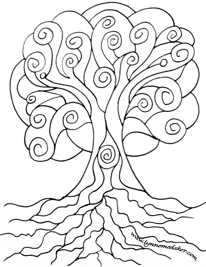 Spiral Tree Download Share Tree Coloring Page Tree Line