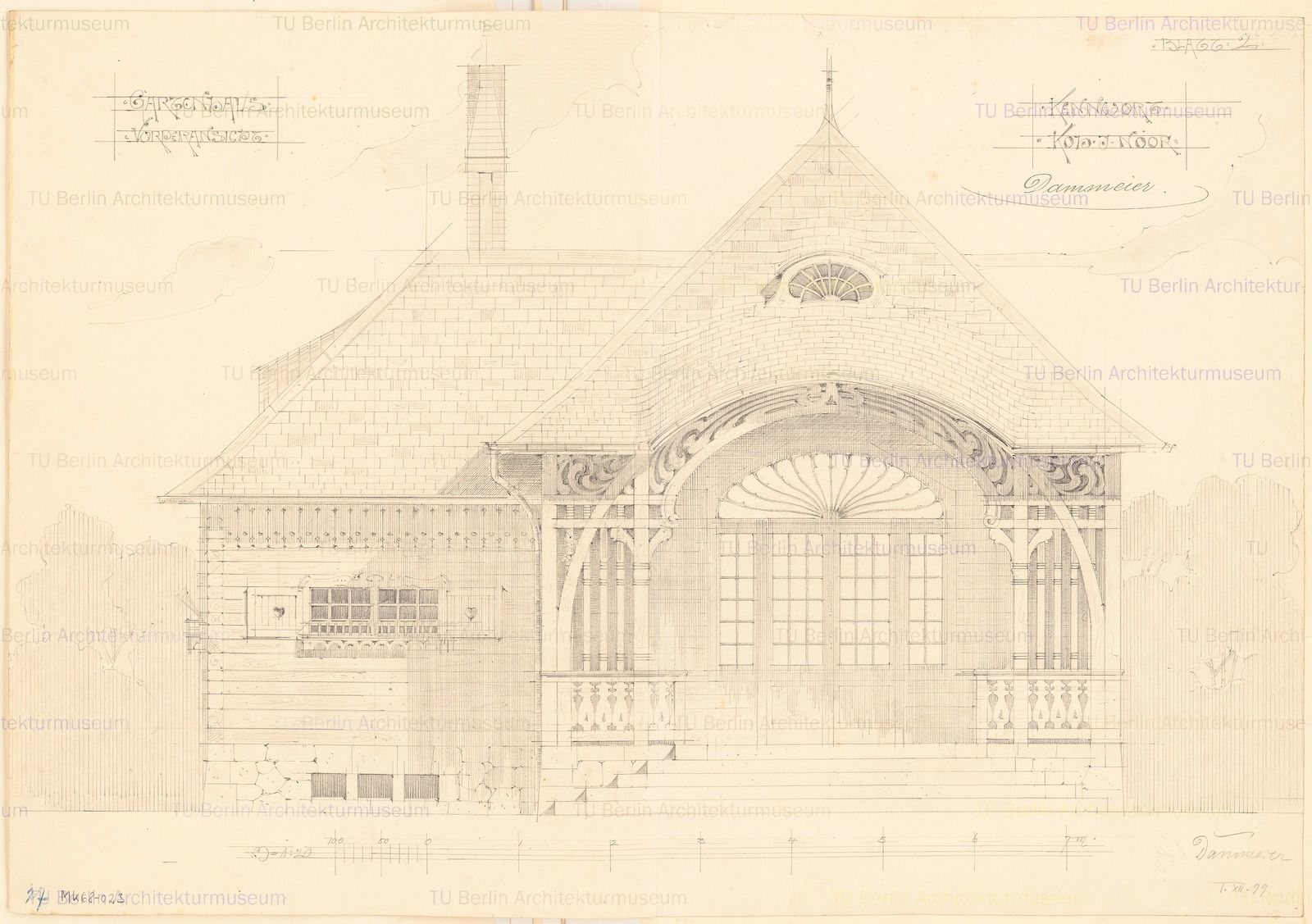 Gartenhaus. Monatskonkurrenz Dezember 1899 | Dammeier, Conrad