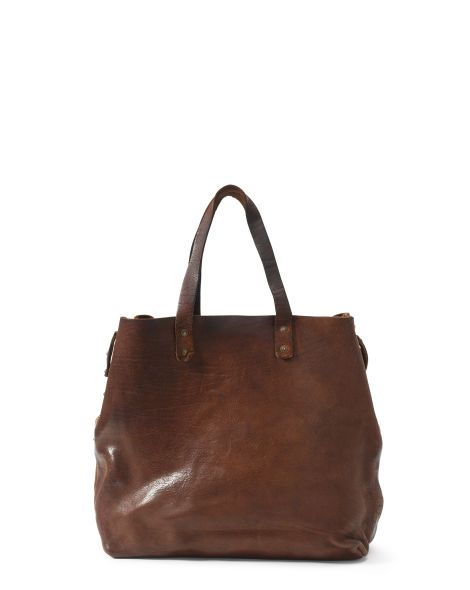 Large Burnished Leather Tote - Polo Ralph Lauren Totes - RalphLauren ... 0a00550d56bcb