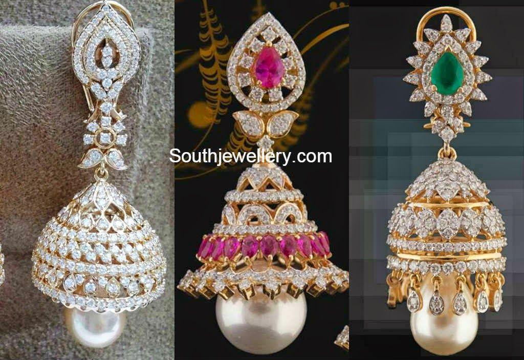 diamond jhumkas indian - photo #6