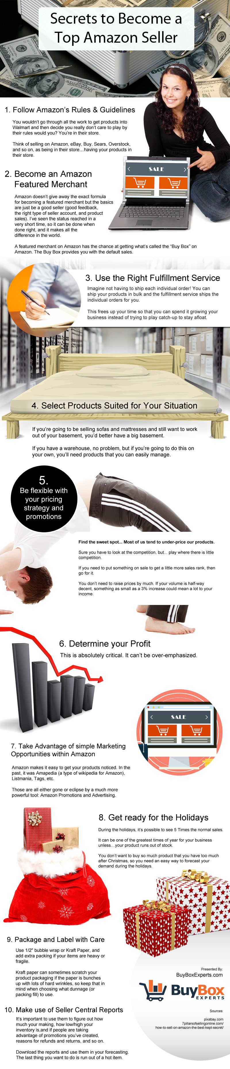 Secrets To Become A Top Amazon Seller Infographic Amazon Seller Infographic Things To Sell