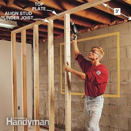 How To Frame A Basement Wall how to install basement windows and satisfy egress codes