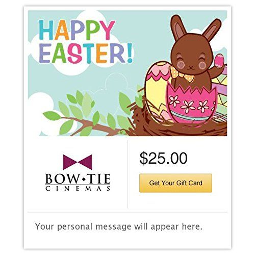 Bow tie cinemas happy easter chocolate bunny gift cards email bow tie cinemas happy easter chocolate bunny gift cards email delivery you can find more negle Images