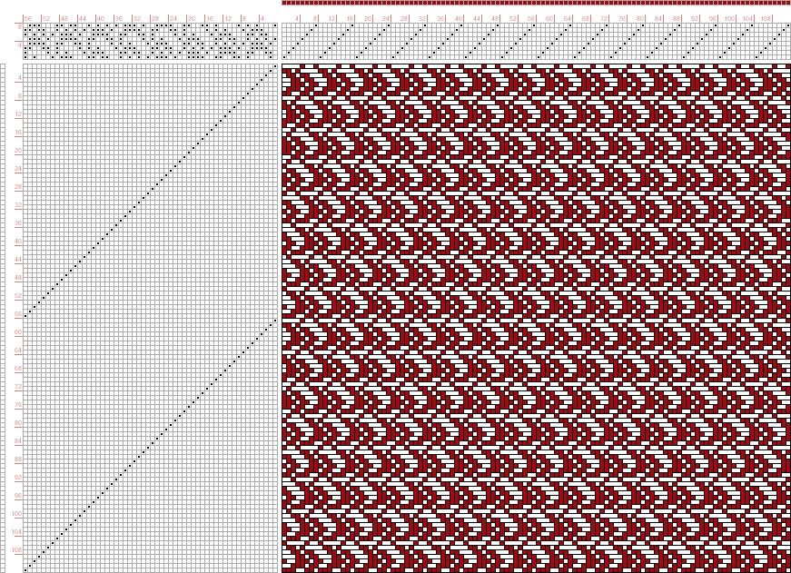 draft image: Page 057, Figure 09, Atlas D'Armures Textiles, B. Fressinet, 8S, 56T