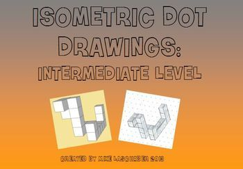 Isometric Dot Drawing  Intermediate Level  Dotted Drawings