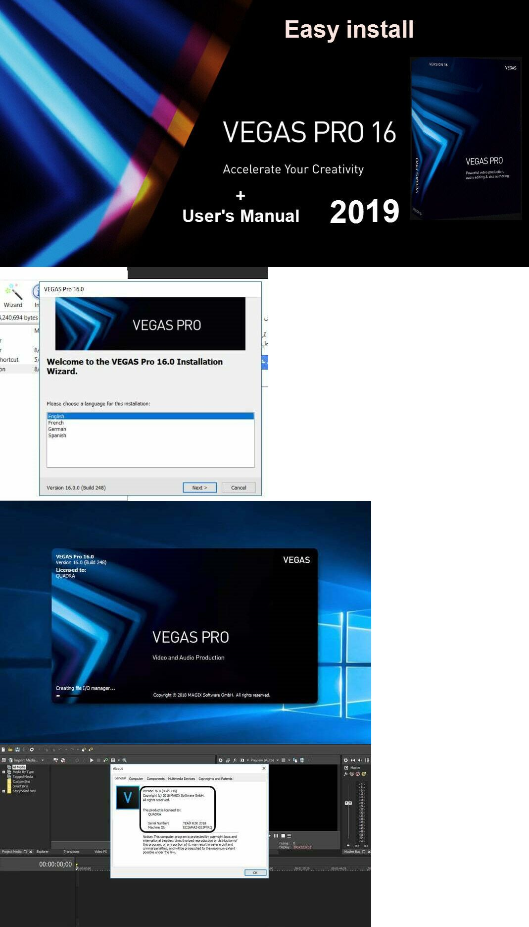 Image Video and Audio 41859: Sony Vegas Pro 16 Professional Video