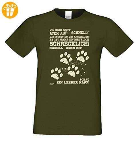 Geschenk für Katzenfreunde :-: Motiv T-Shirt Katzen :-: Leerer Napf.  Geschenk für Katzenfreunde :-: Motiv ...