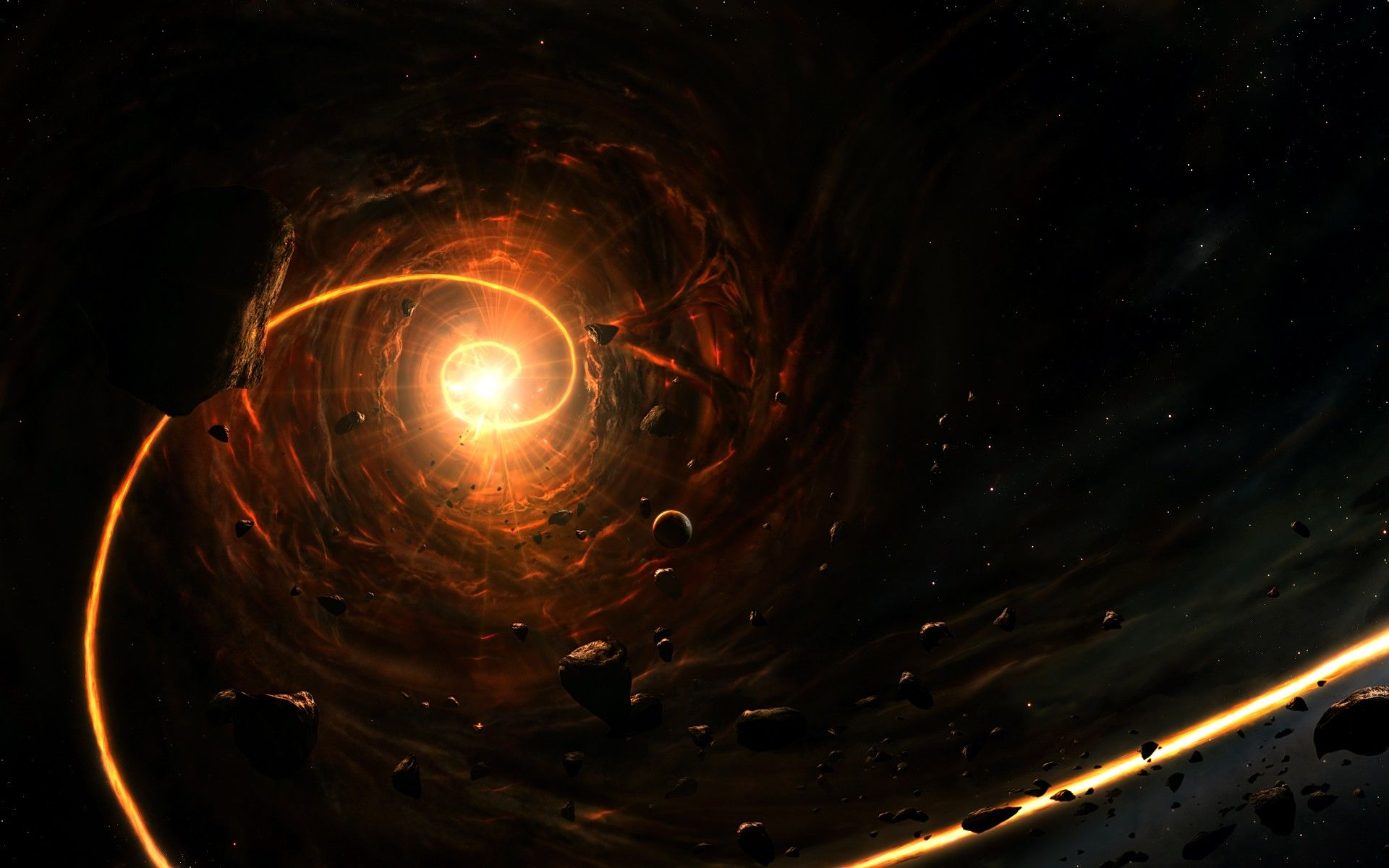 wallpapers android a· black hole art
