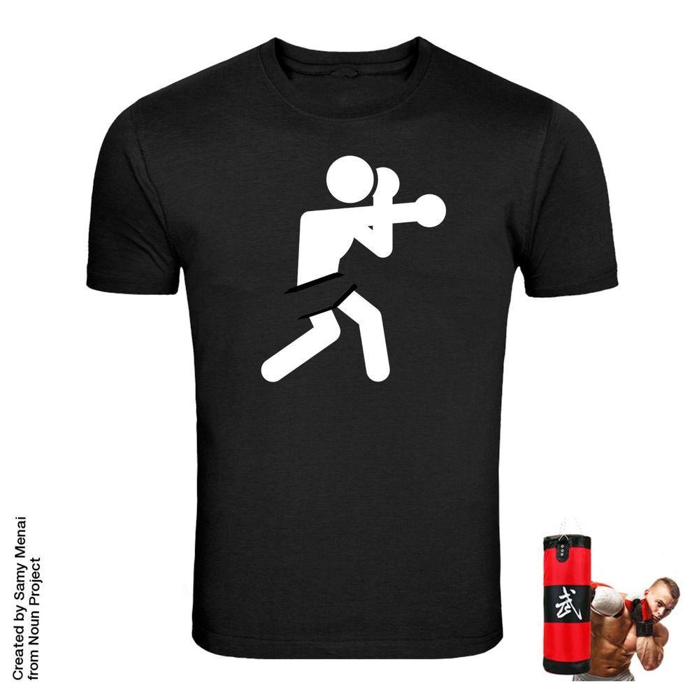 BOXING I Love REGULAR FIT UNISEX Black T Shirt