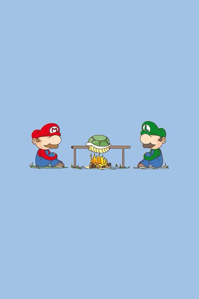 Mario Camping And Eating A Koopa Troopa 面白いイラスト イラスト