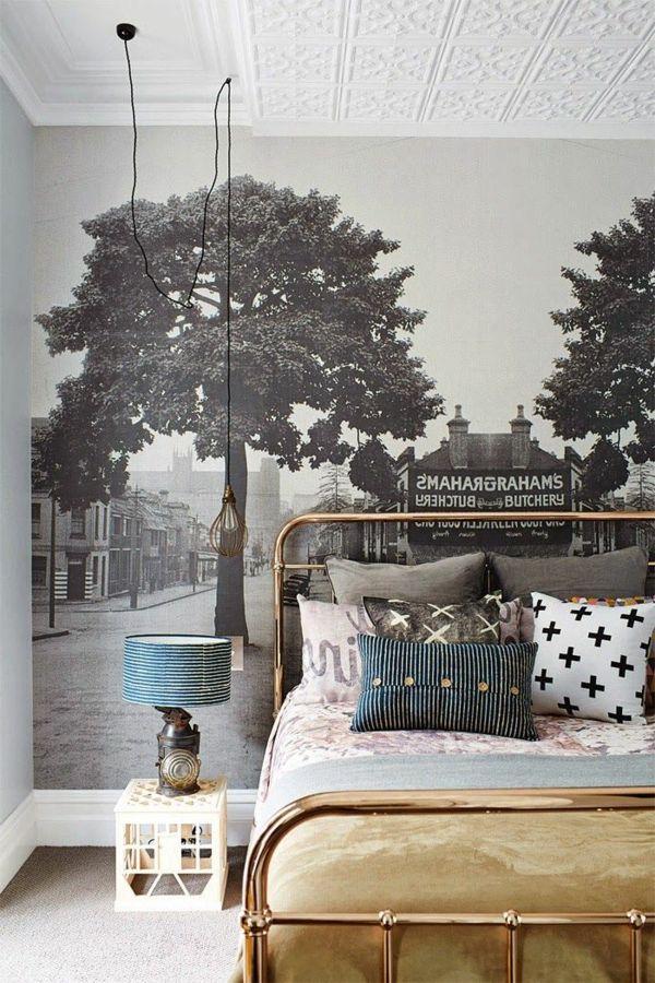 fototapete schlafzimmer schwarz weiß foto Schlafzimmer - schwarz weiß schlafzimmer