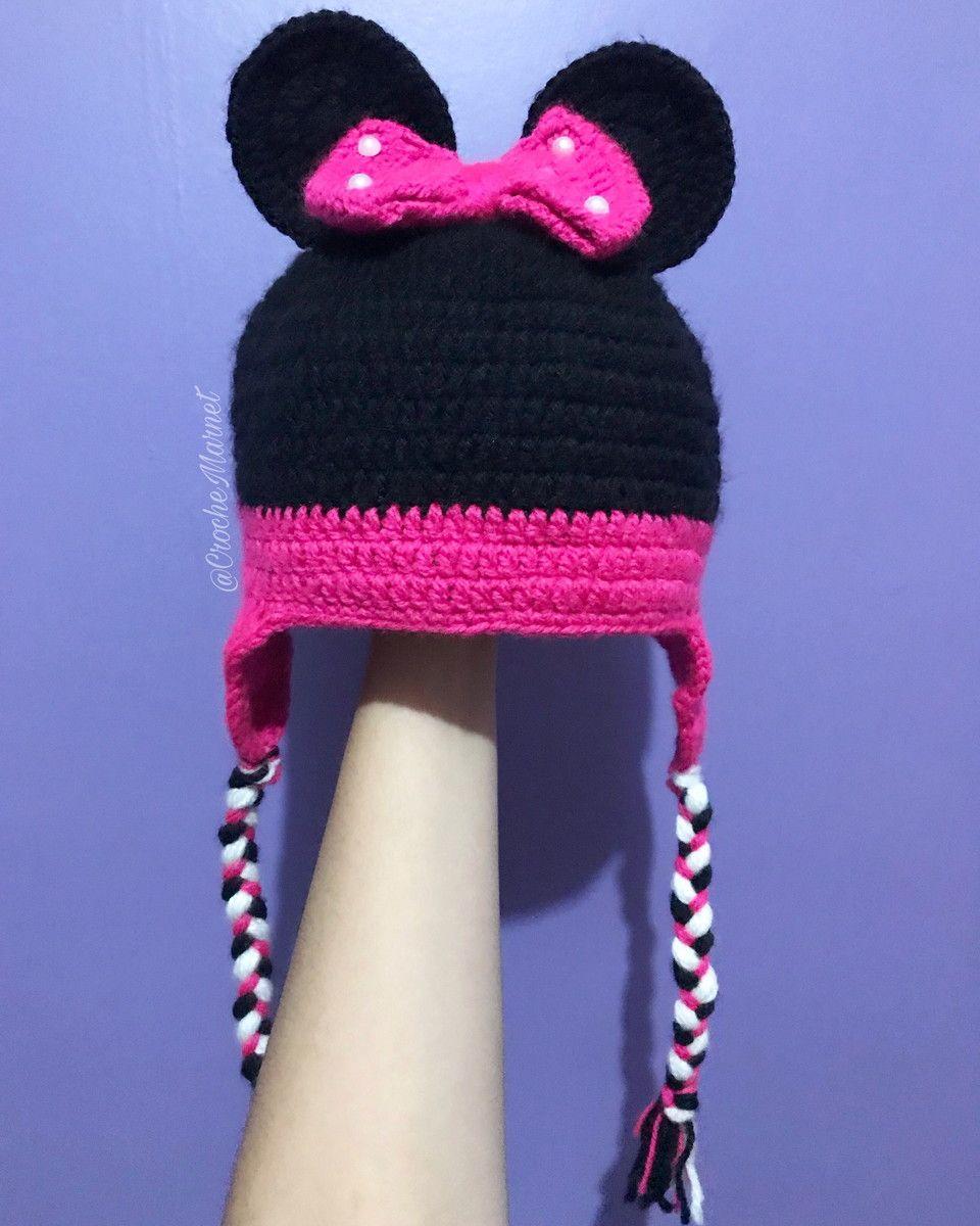 Touca da Minnie (fazemos do Mickey também). Feita em crochê 5c67f595904