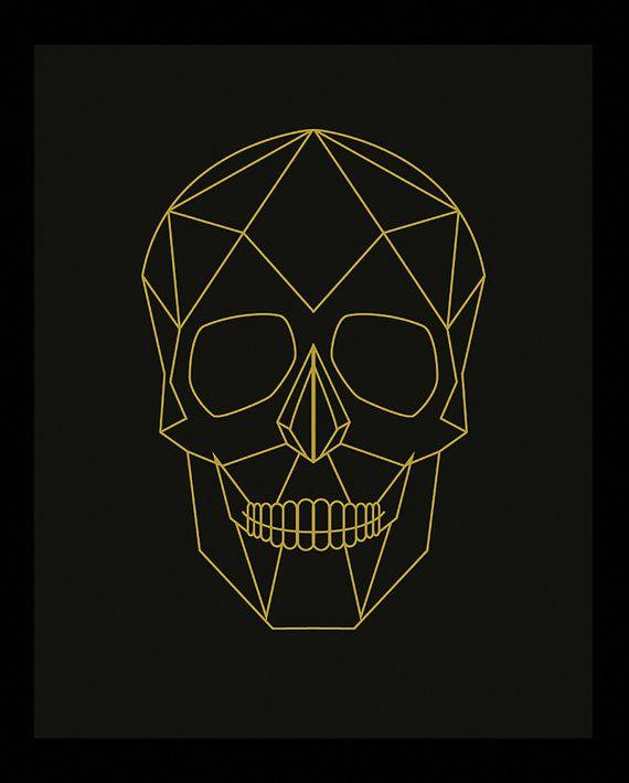 Geometric Skull Skull Print Skull Poster Geometric By Woofworld Geometric Drawing Skull Illustration Skull Artwork