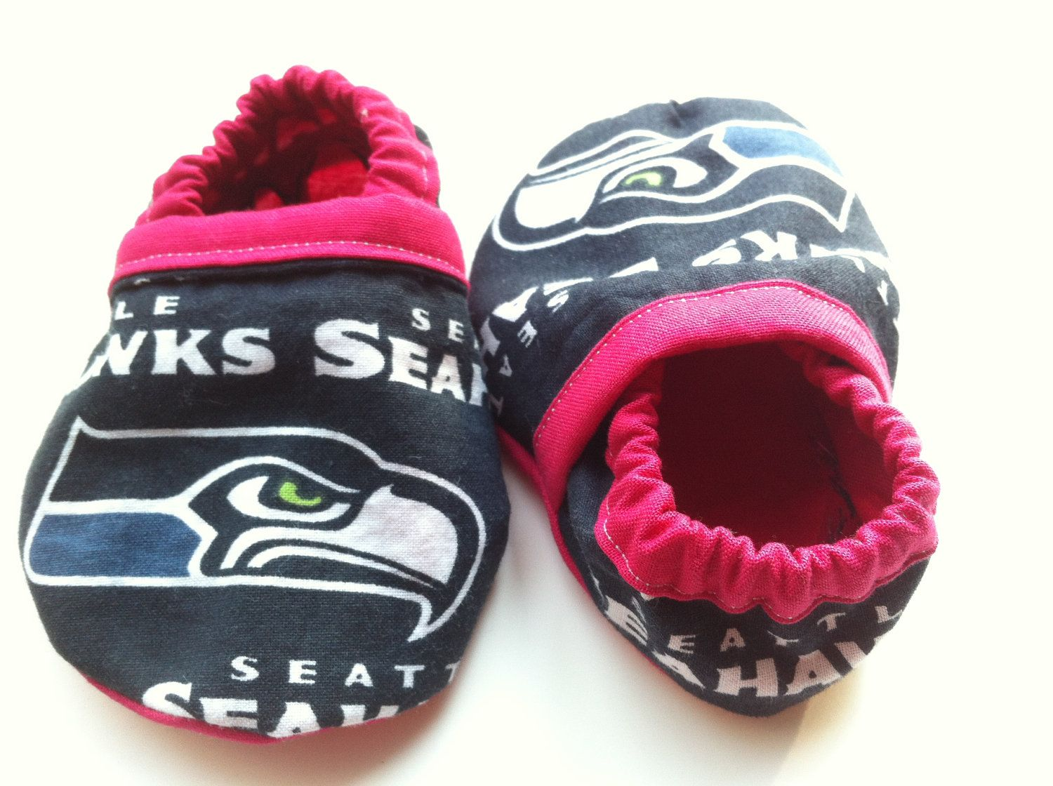55949d23b009d Seattle Seahawks Inspired Pink Baby Booties | Goodies for Giraffe ...