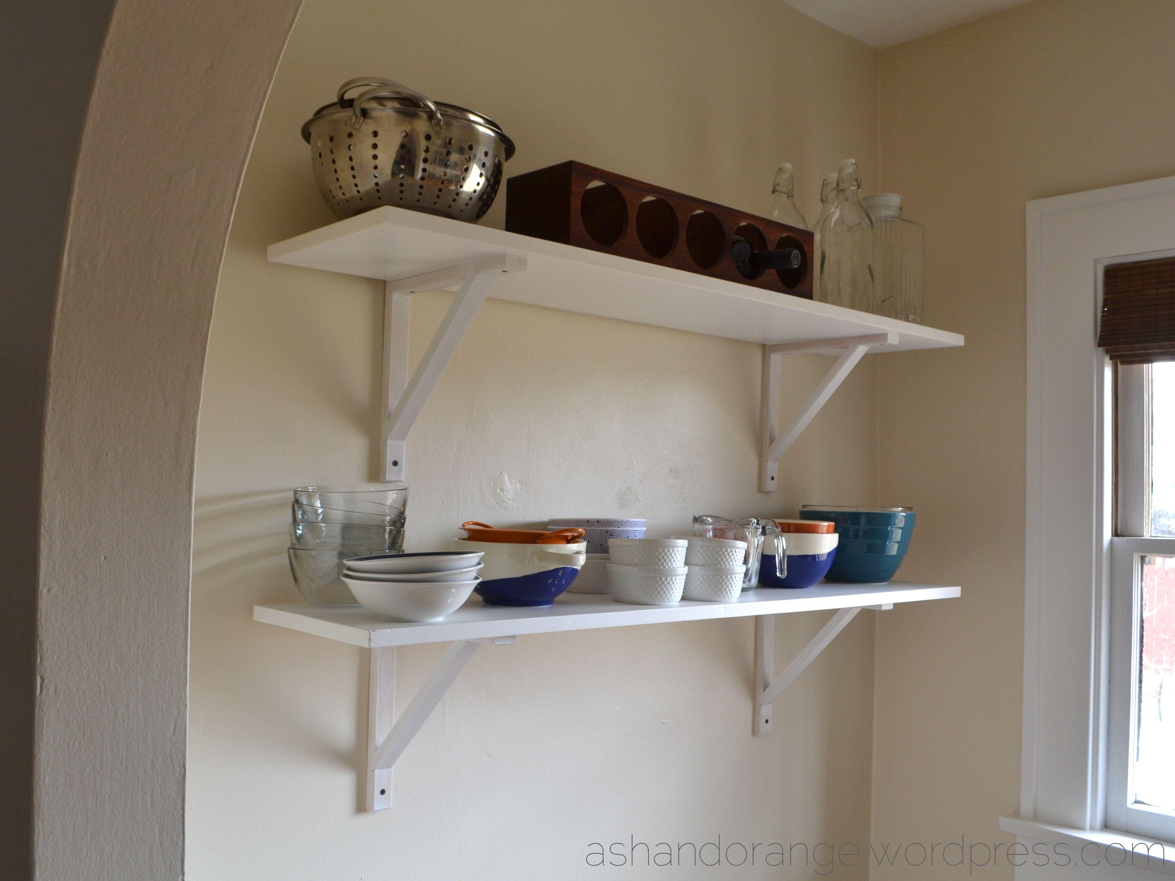 Kitchen Nook Open Shelves Ashandorange.wordpress.com