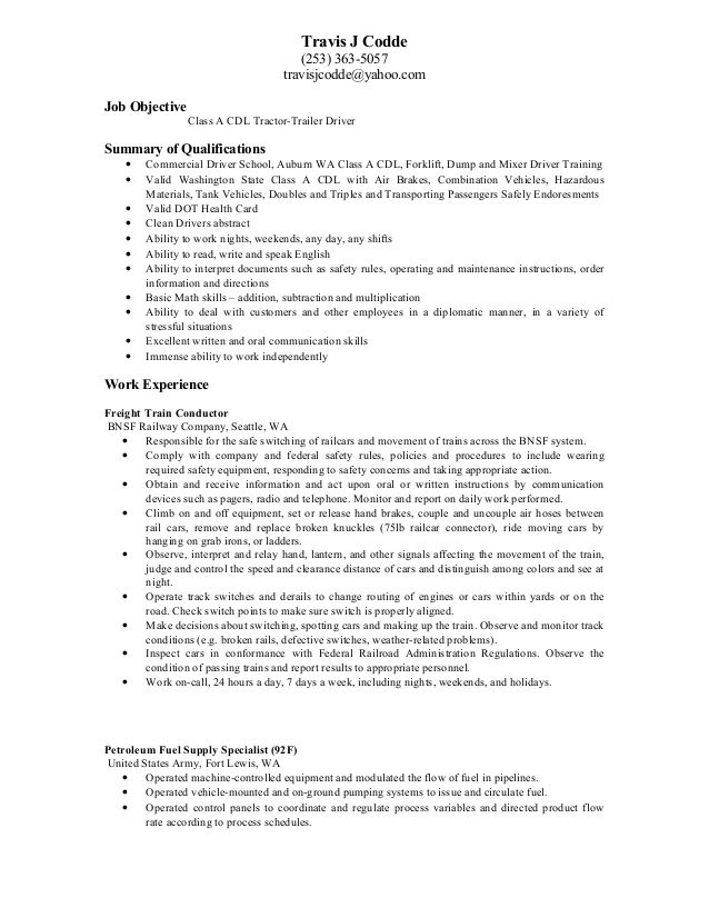 92F Resume Examples Sample resume