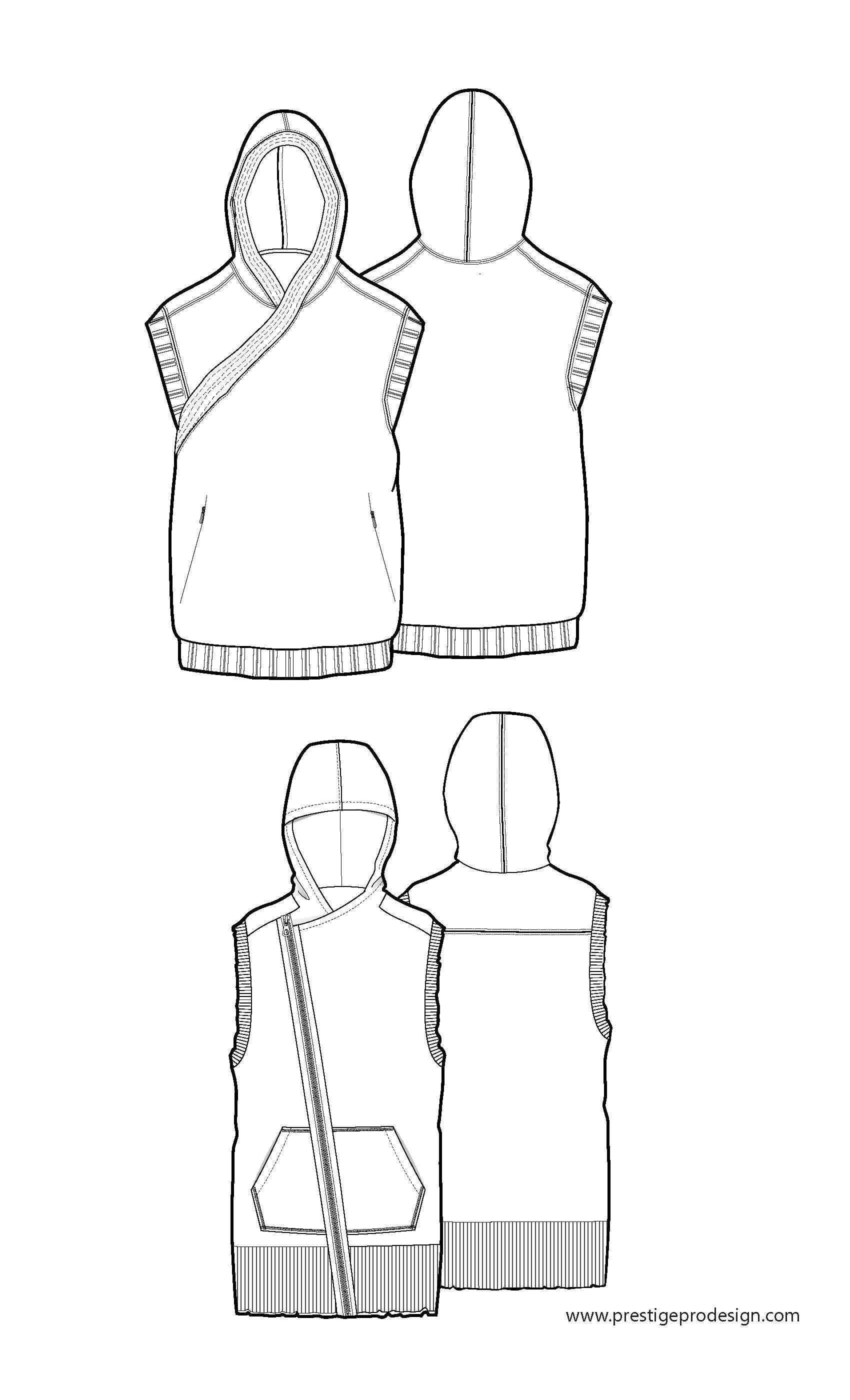 Sleeveless, hooded | построение | Pinterest | Männer kleidung ...