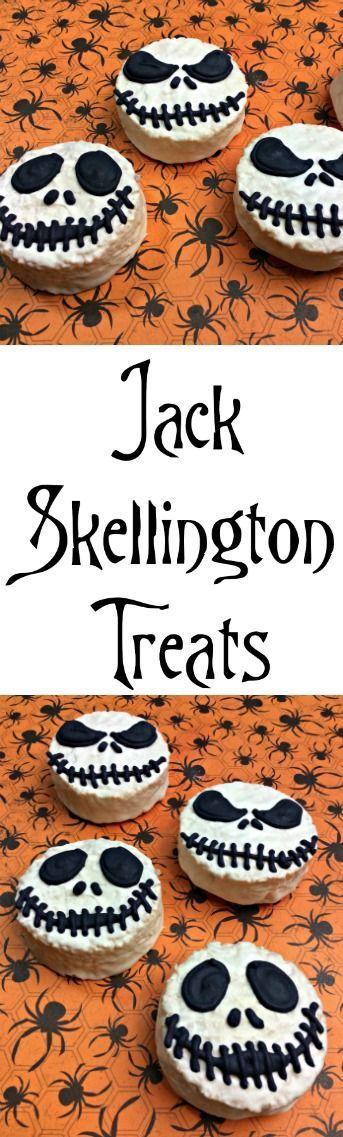 Easy to Make Jack Skellington Treats Jack skellington