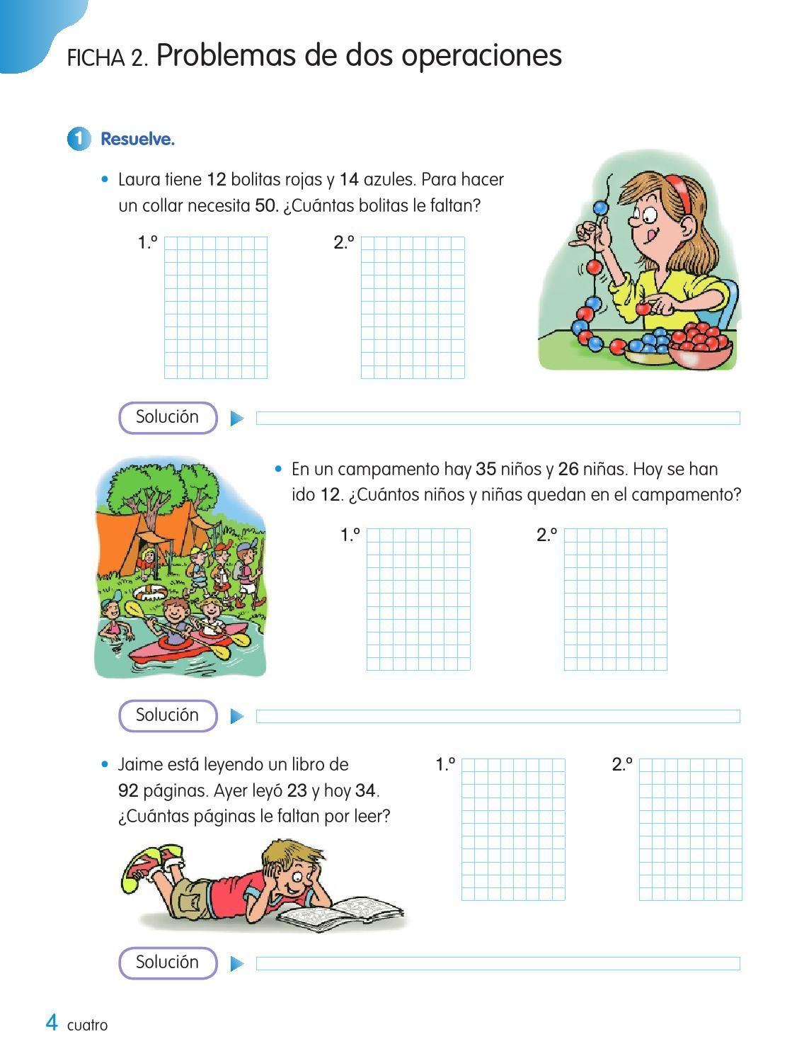 Cuaderno De Matemáticas 2º De Primaria Tercer Trimestre Los Caminos Del Saber Santillana Matematicas Fichas De Matematicas Cuadernos De Matemáticas