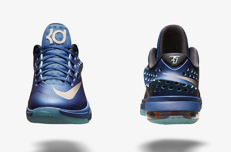 1a9cc1455c18f4 Nike KD 7 Elite Elevate Gym Blue Light Retro Obsidian Metallic Silver  724349 404