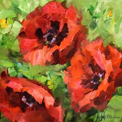 Three divas red poppies by texas flower artist nancy medina three divas red poppies by texas flower artist nancy medina painting by artist nancy medina mightylinksfo