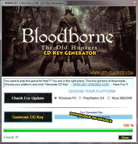 Bloodborne The Old Hunters CD Key Generator Full Game