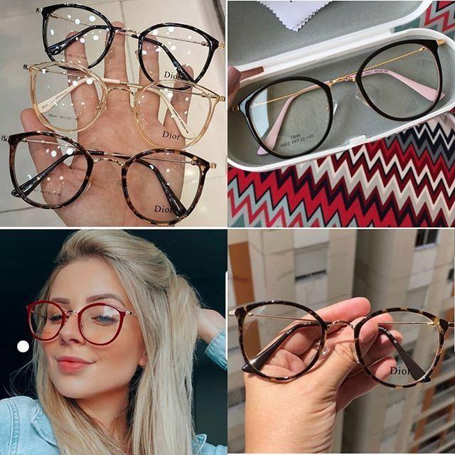 óculos Monturas Gafas Mujer Gafas De Moda Lentes De Moda Transparentes