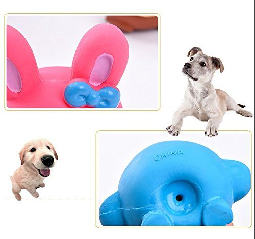 Small Dog Toys Catyou 4pcs Safe Latex Dog Squeaky Toys Small