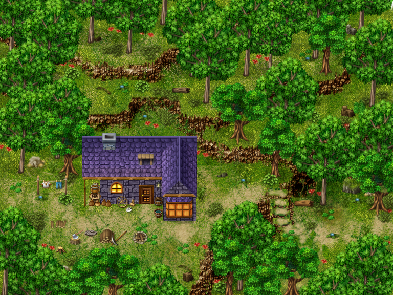 Forest Rpg Maker Parallax Map By Sillouete On Deviantart