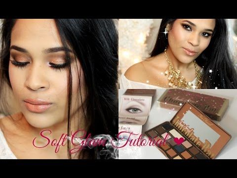 Too Faced Semi Sweet Chocolate Bar Palette Soft Glam Makeup Tutorial - MissLizHeart - YouTube