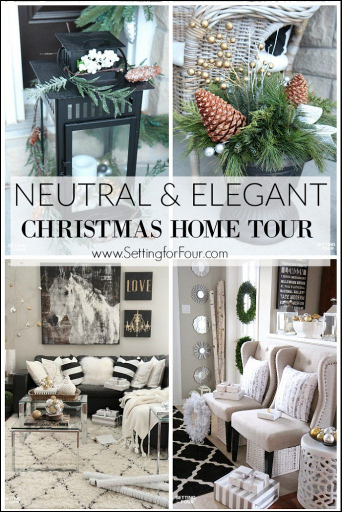 Neutral and Elegant Christmas Home Tour - Setting for Four