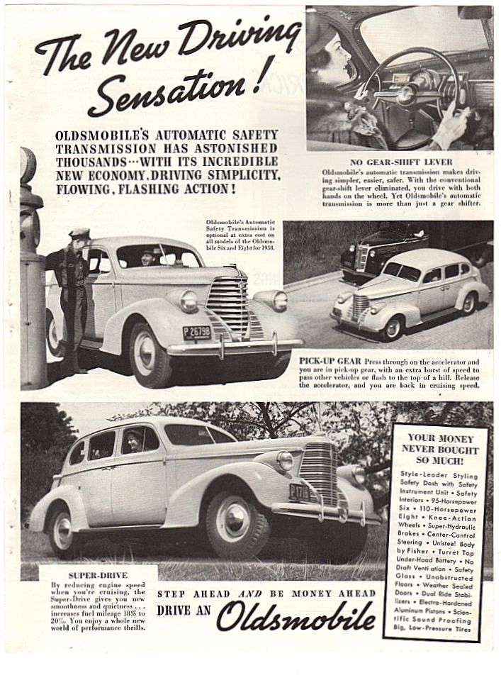Vintage 1938 Oldsmobile Magazine Print Ad Paper Advertising Service ...