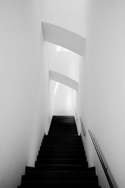 modern architecture - Black Stairs!