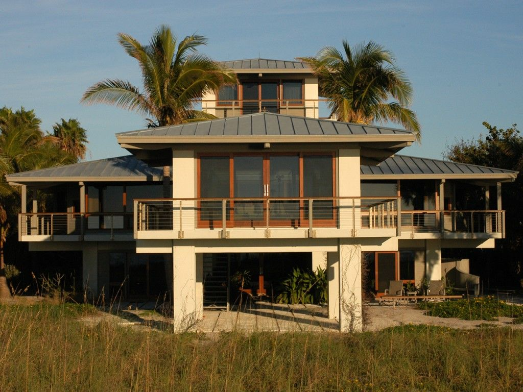 Gorgeous Standing Seam Metal Roof On A Two Story House In Florida Roof Installation Standing Seam Metal Roof