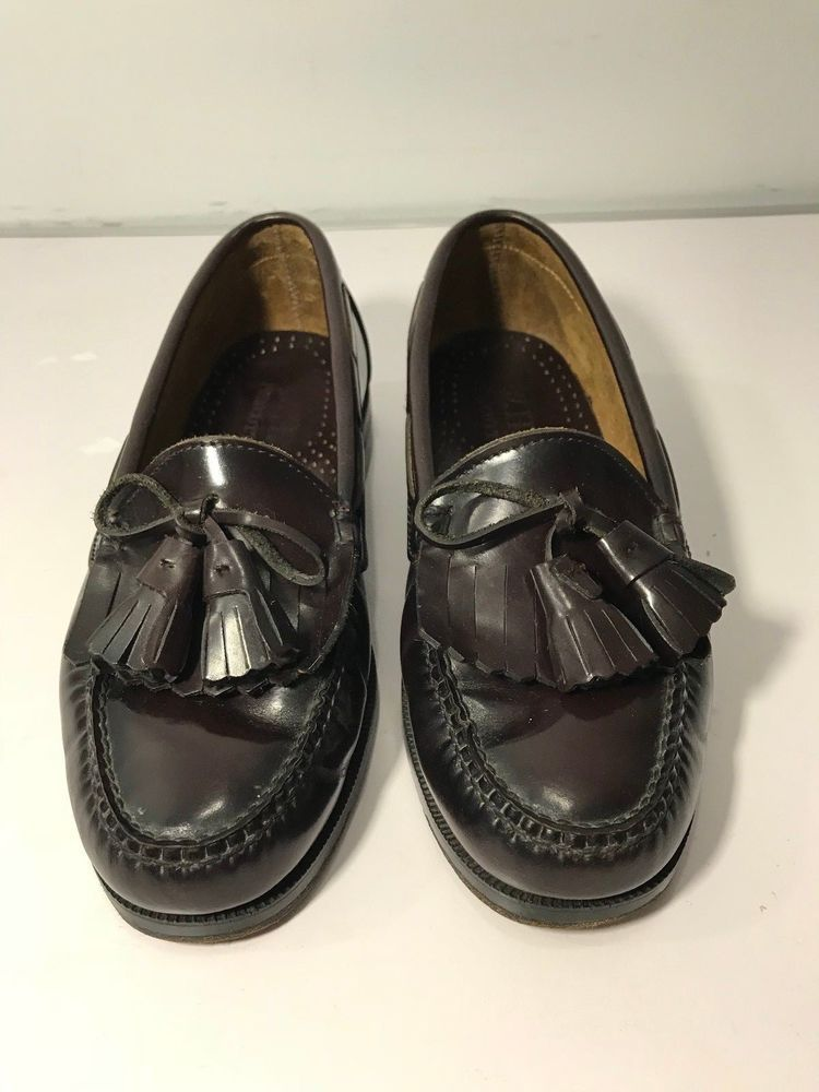W.H. Prescott Brown Leather Loafers Dress Shoes Men`s 10 M